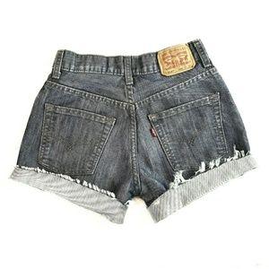 3/$30 LEVIS 514 Cut Off Mid-Rise Denim Jean Shorts